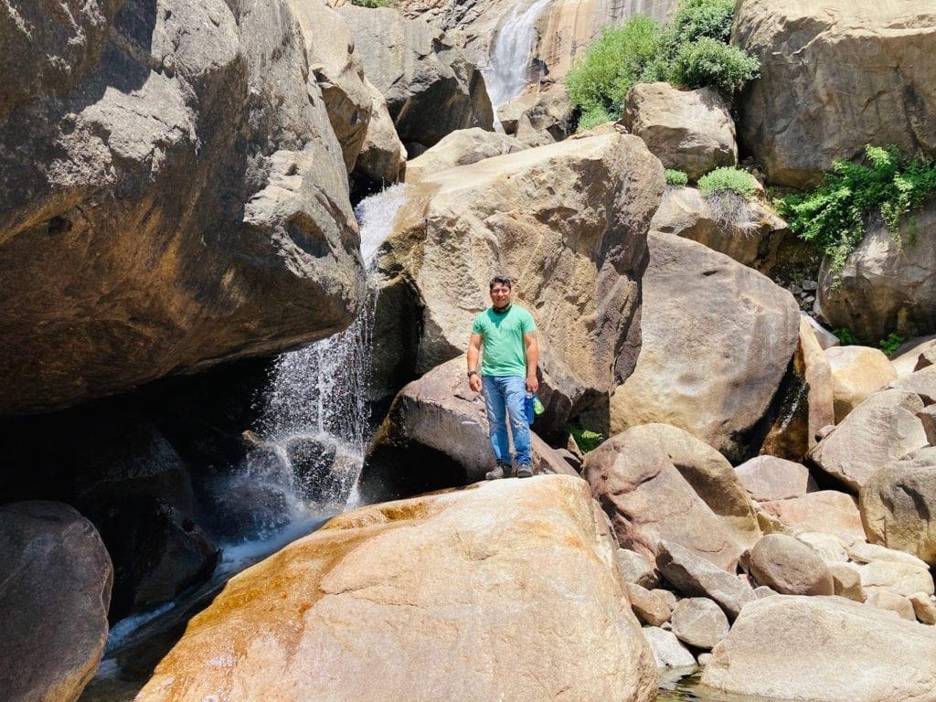 "Underneath the ""Mighty"" Wapama Falls"