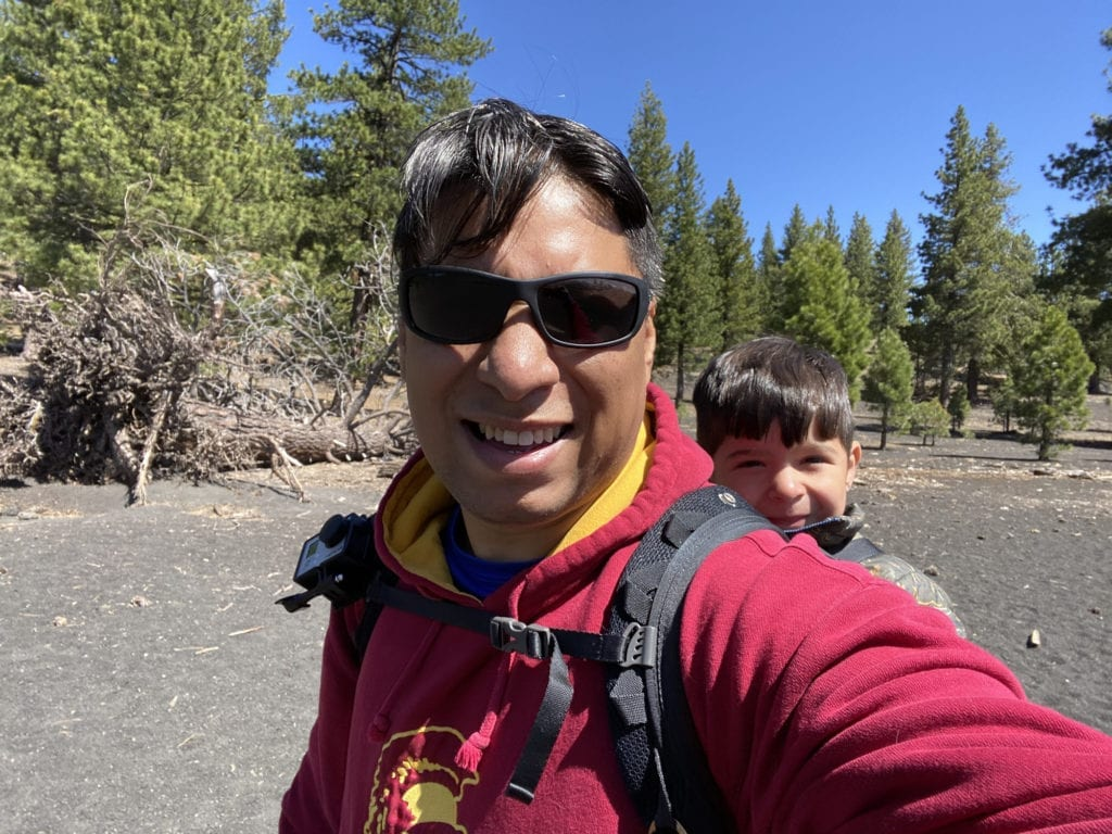 Bug in a Backpack - Cinder Cone with Kids