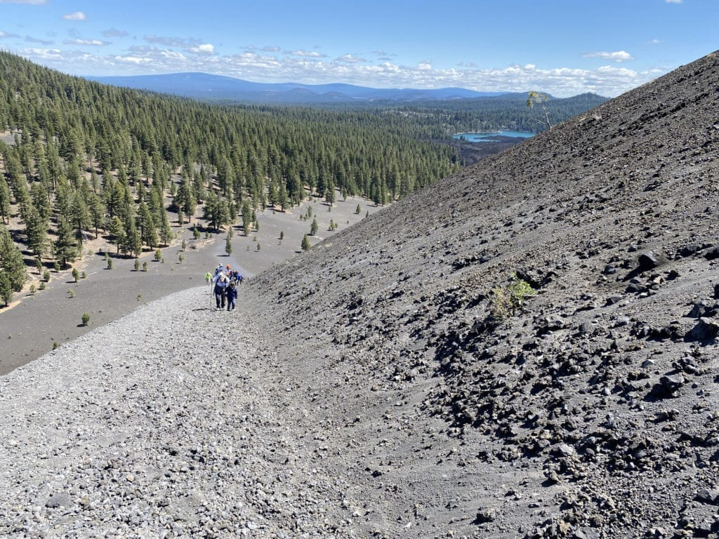 JJ and Mom Ascending the Cinder Cone