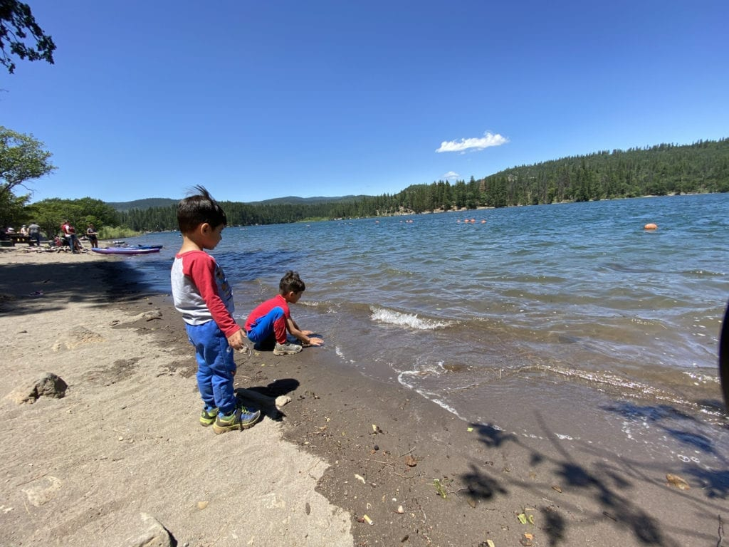 Kids Playing at the Beach, Lake Britton