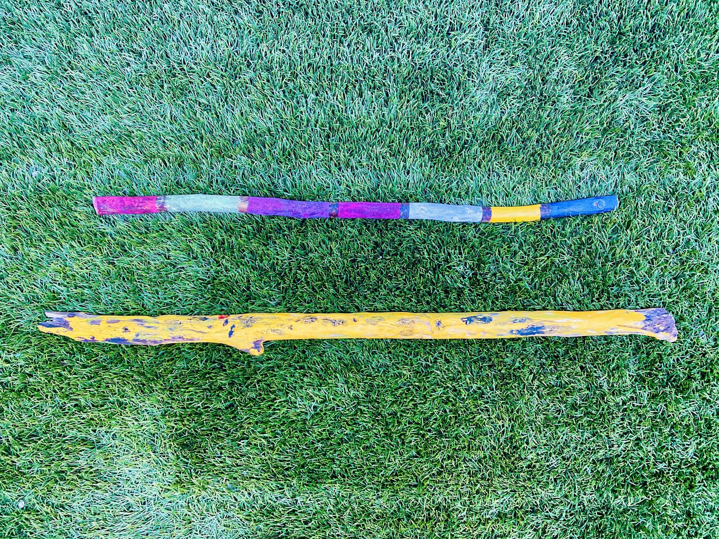 Painted Walking Sticks