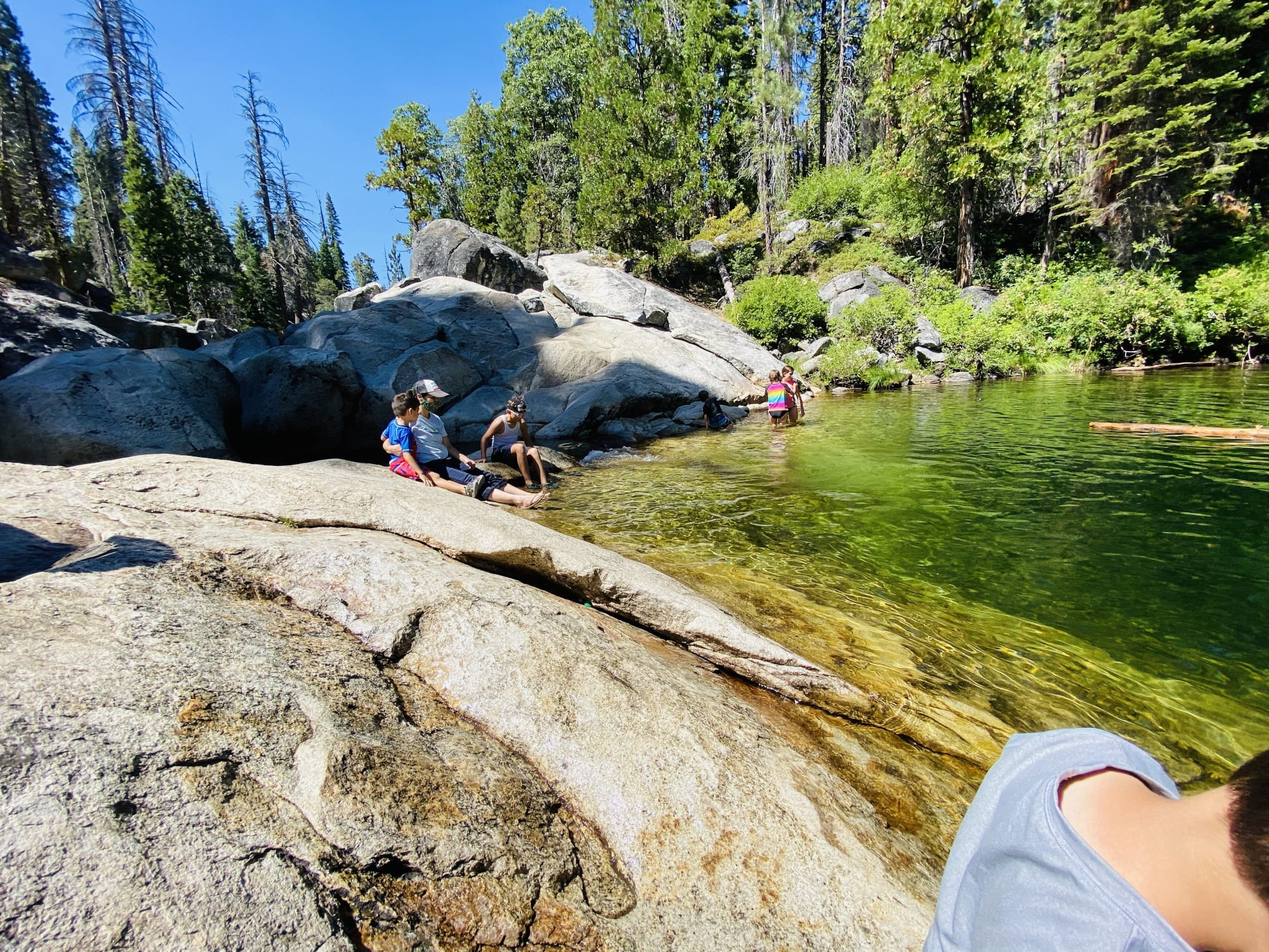 The Honeymoon Pool at Dinkey Creek Campground
