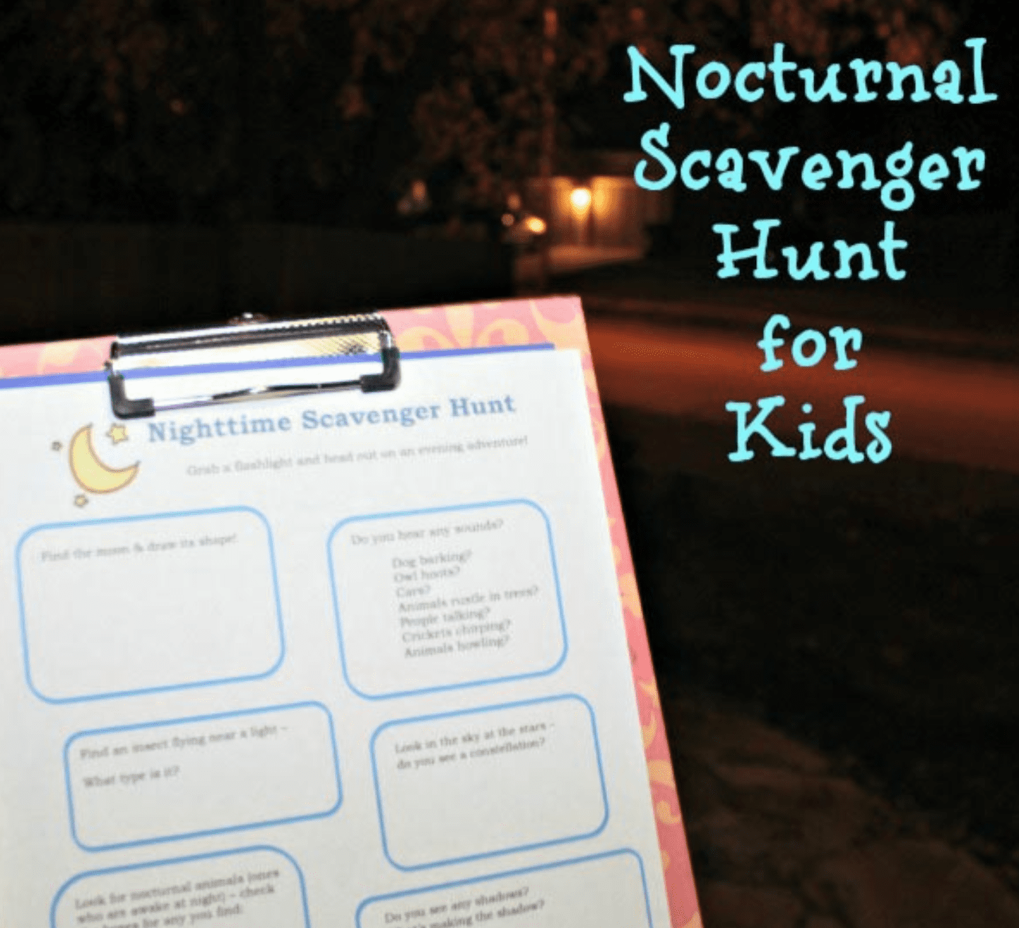 Edventures Nocturnal Scavenger Hunt for Kids