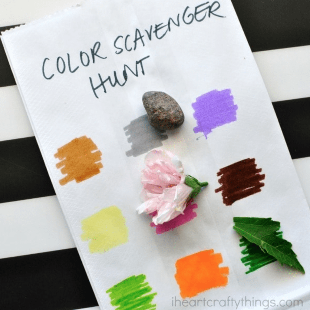 I Heart Crafty Things Simple Color Scavenger Hunt for Kids