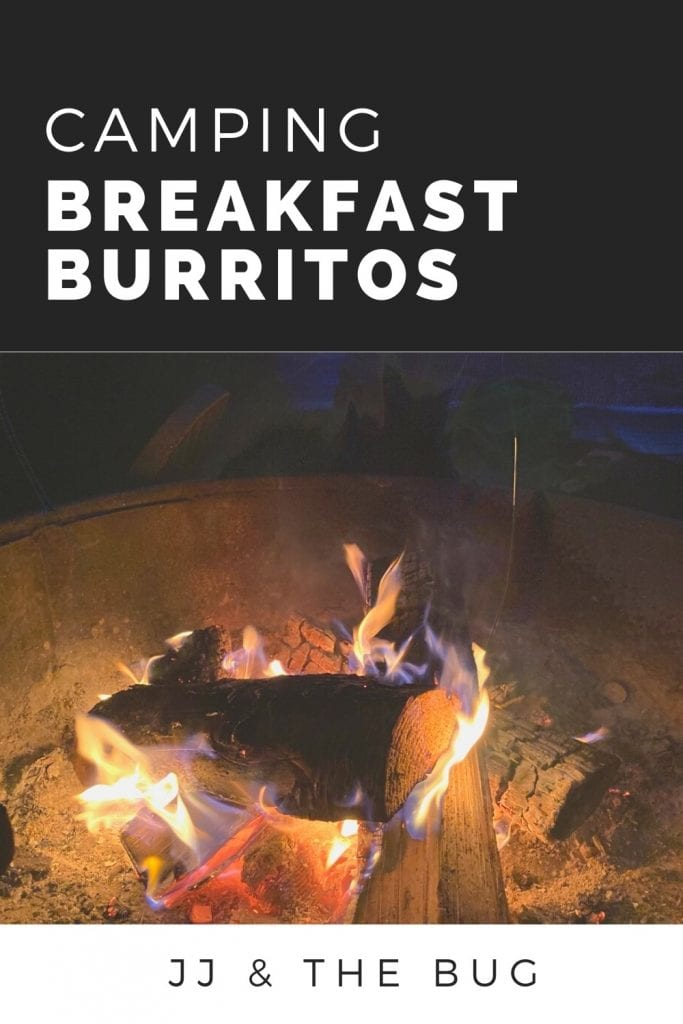 Pin for Camping Breakfast Burritos - photo of campfire