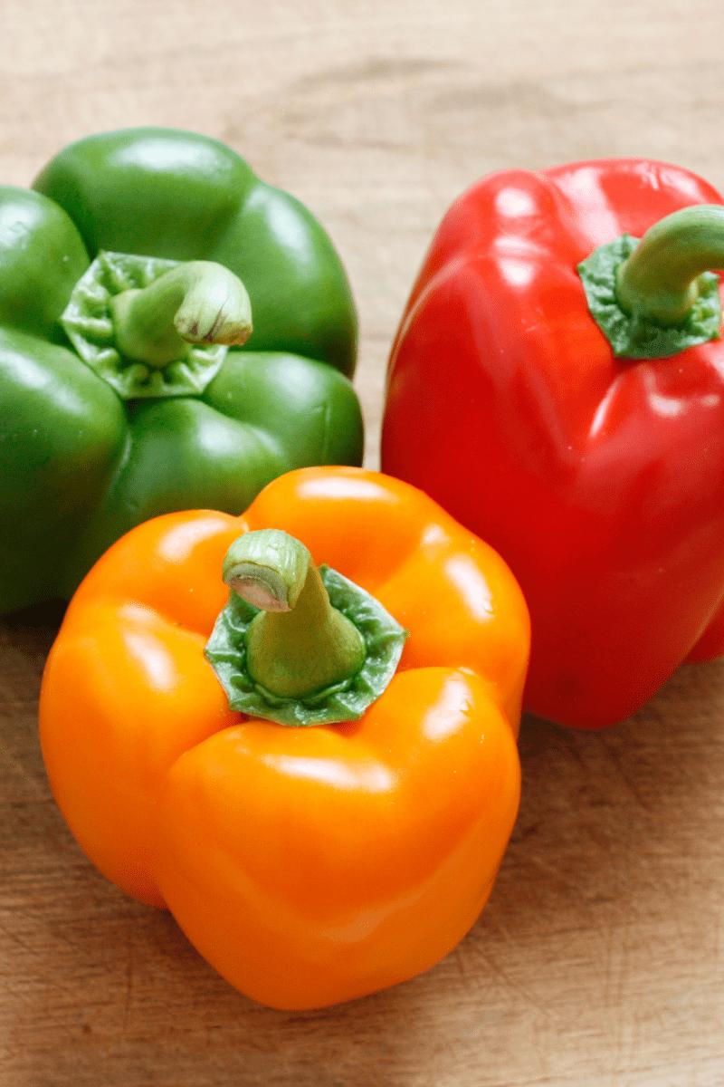 Bell Peppers - Camping Breakfast Burritos Ingredients