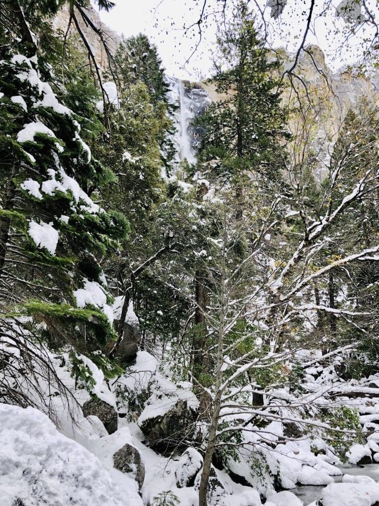Yosemite's Bridalveil Fall, Frozen in November 2019