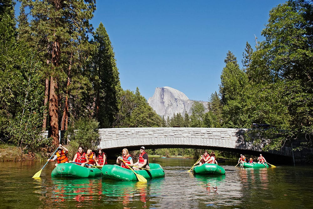 Yosemite Rafting on the Merced River