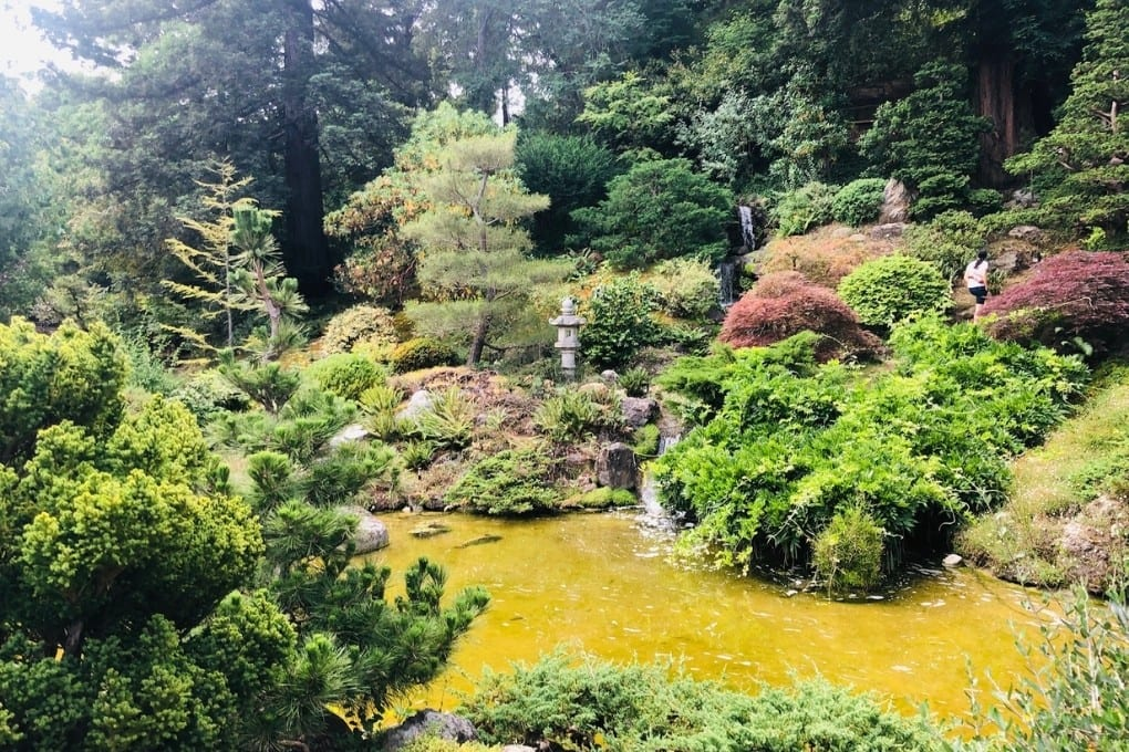 The lovely koi pond area at Hakone Gardens makes you feel like you're far outside of the South Bay