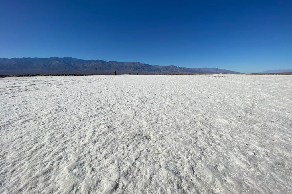 Snow like salt at Badwater Basin, Death Valley National Park