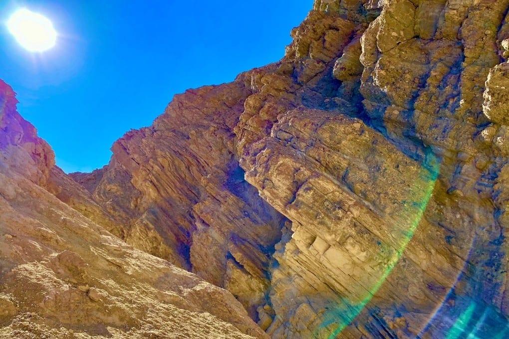 Golden light in Golden Canyon, Death Valley National Park