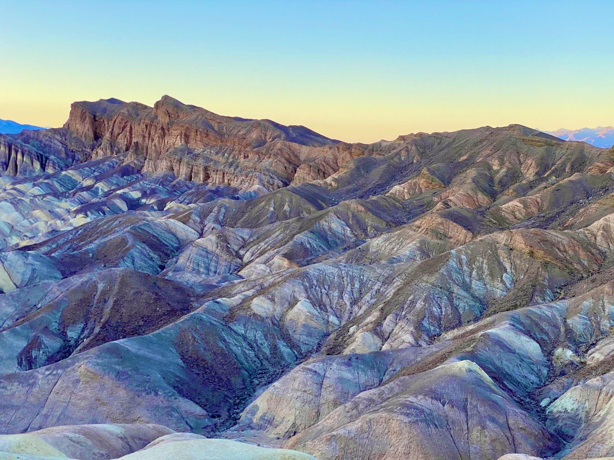 Zabriskie Point at Sunset, Death Valley National Park