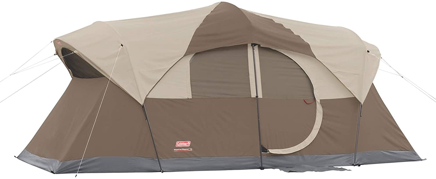 Good pick for extra large family tent: Coleman Weathermaster 10