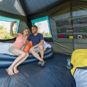 Best Extra Large Family Tent: Ozark Trail 10P Insta Cabin with Dark Room