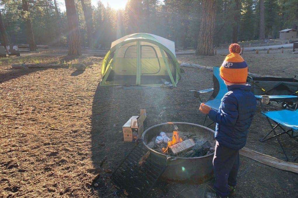 Campsite Morning at Butte Lake