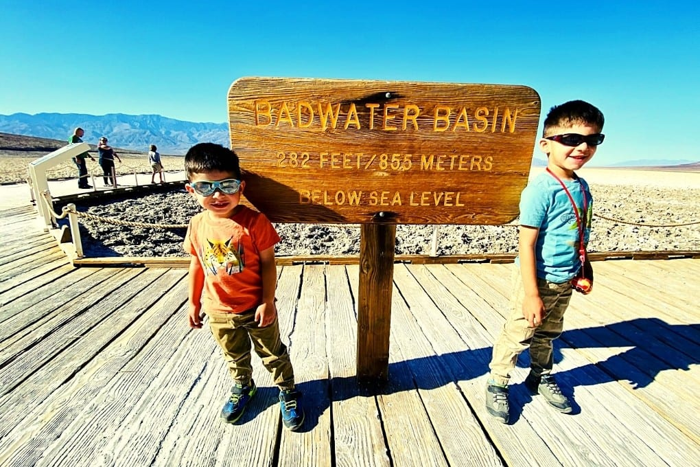 The obligatory Badwater Basin sign photo in Death Valley.