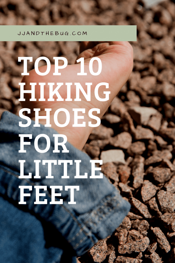 Image of a Pinterest Pin for this Top 10 Hiking Shoes article