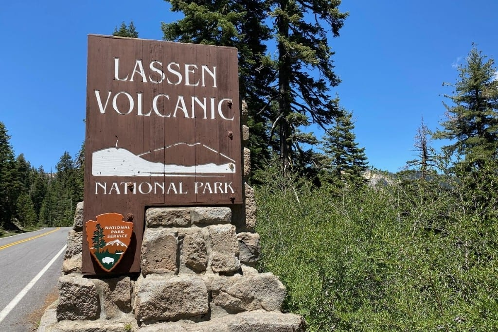Welcome Sign to Lassen National Park