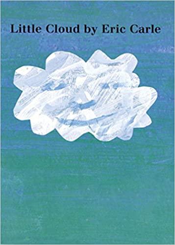 Little Cloud book cover - a cloud among the blue with a subtle happy face
