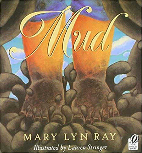 Mud book cover - bare feet splashing in mud