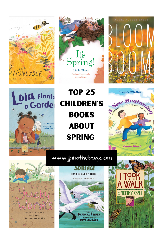 Pinterest Pin for Spring Books for Kids Article
