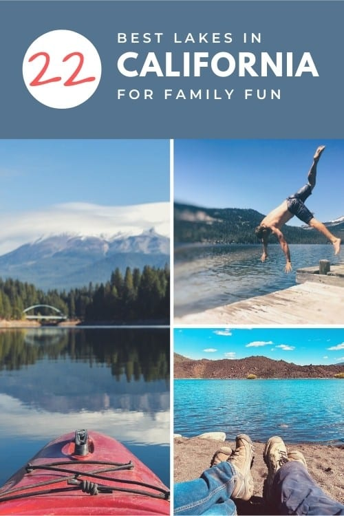 Pinterest Pin for Best Lakes in California for Family Fun