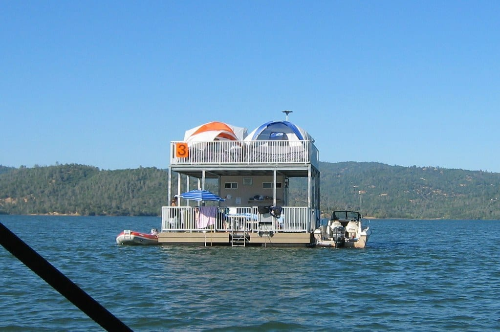 Floating Campsite at Lake Oroville