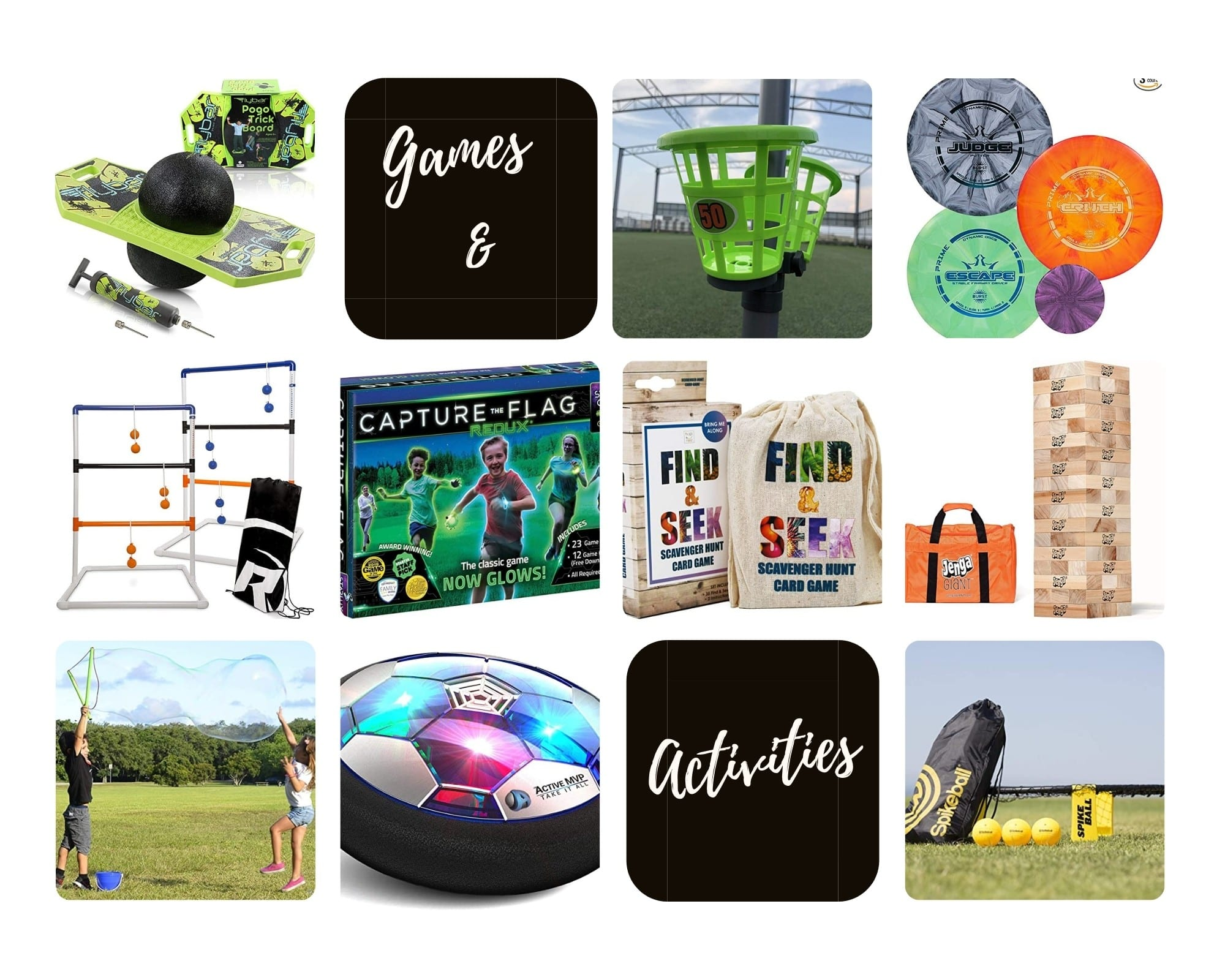 Product Images of all 10 Games and Activities Gift Ideas