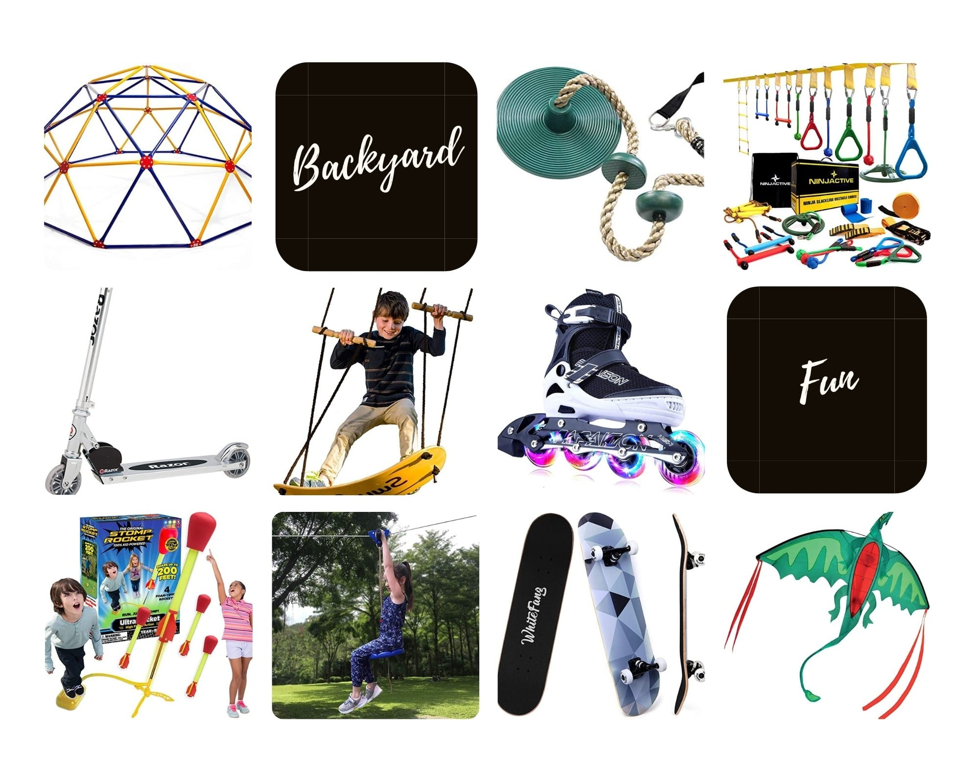 Product Images of the Top 10 Backyard Adventure Gifts for Outdoorsy Kids to Follow