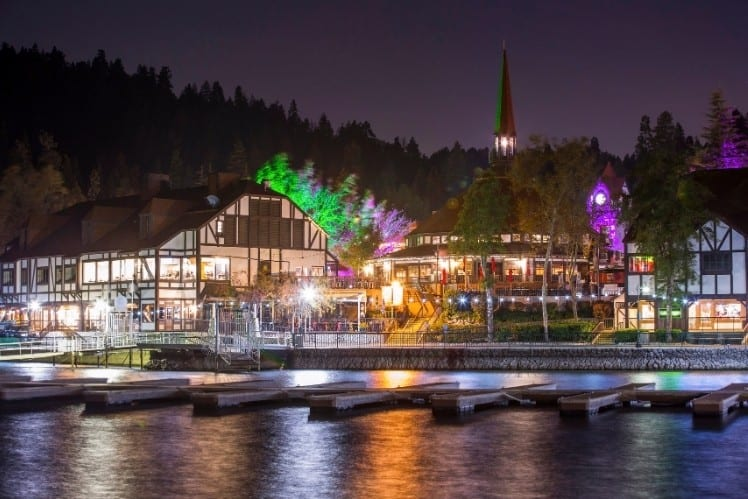 Lake Arrowhead at Night