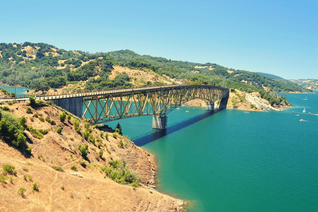 Warm Springs Creek Bridge over Lake Sonoma