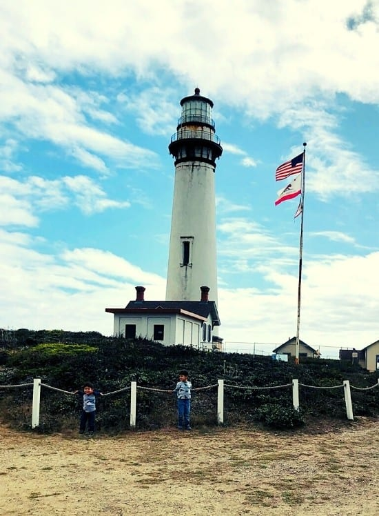 Posing at Pigeon Point Lighthouse