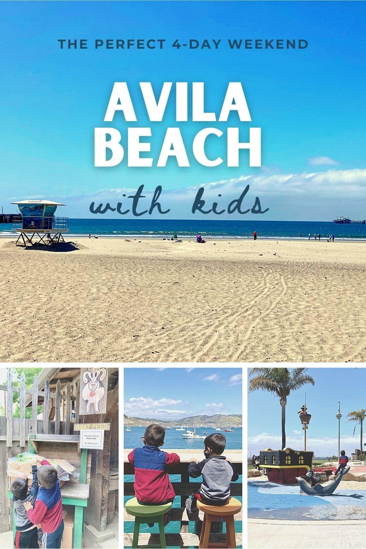 Avila with Kids Pinterest collage
