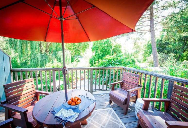 Balcony at Inn on the Russian River, a family friendly hotel