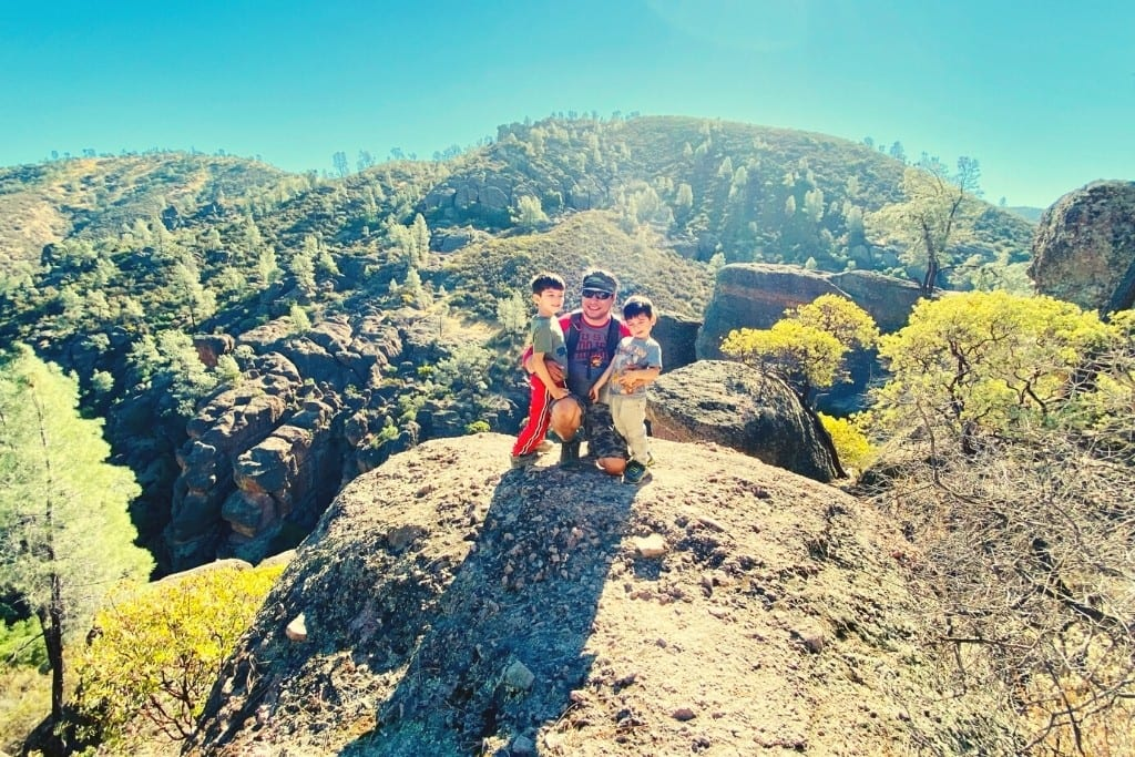 Family photo along the Rim Trail during our Pinnacles Day Trip.