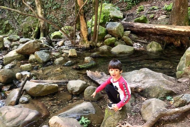 JJ playing in Swanson Creek