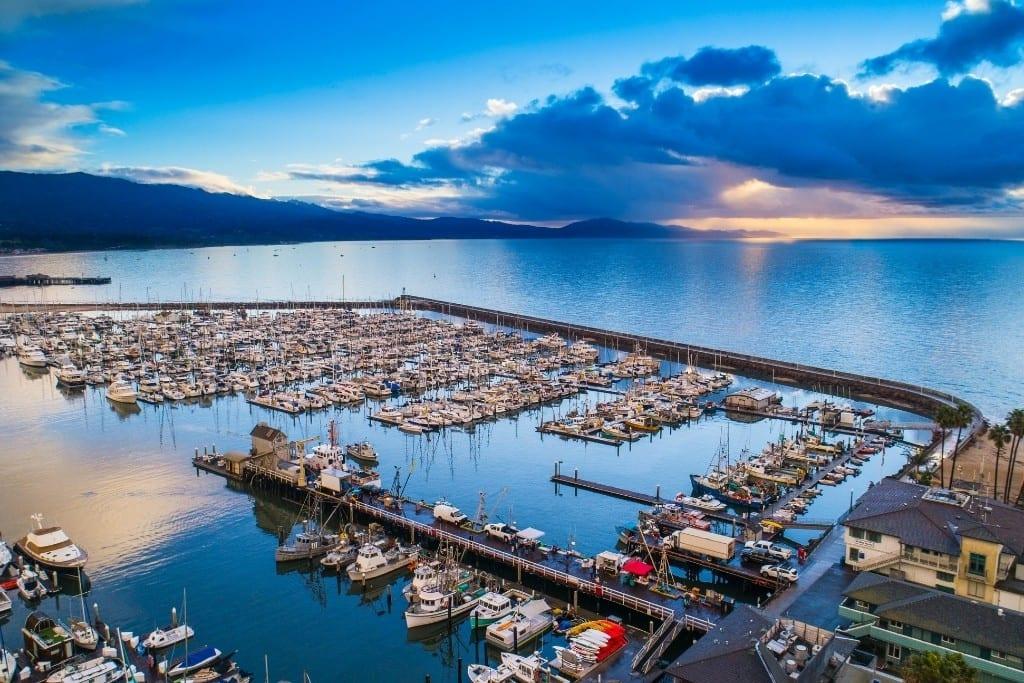 Sunrise at the Santa Barbara Harbor