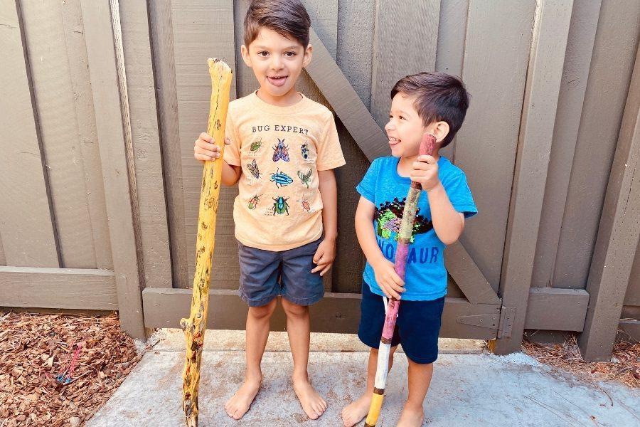 Painted Walking Sticks Make Everyday Hikes More Fun