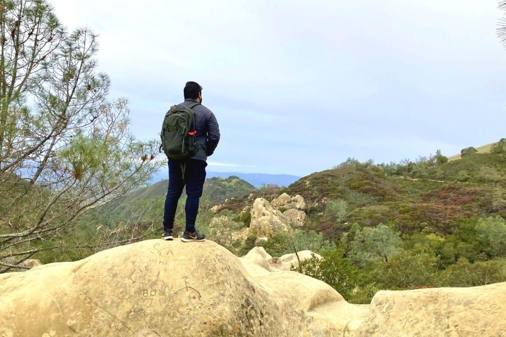 John looking out toward Sentinel Rock