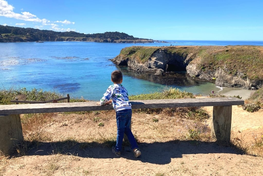 Checking out the Mendocino Headlands, just across the street from Main St Mendocino