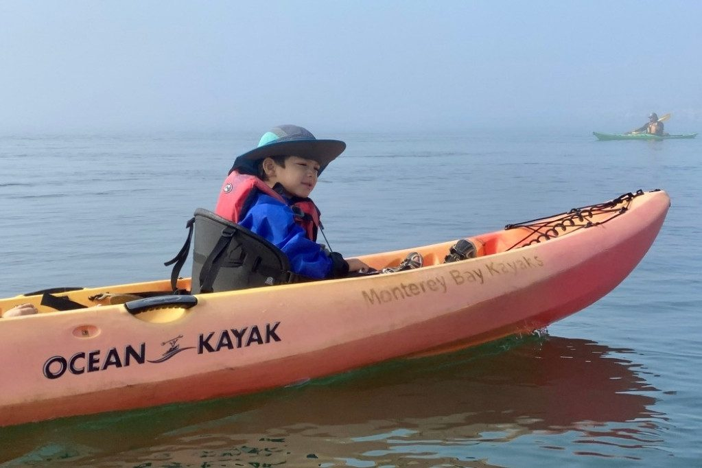 First kayak ride through Elkhorn Slough on a foggy day