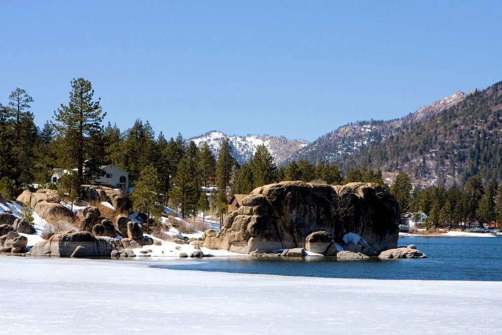 Snowy Big Bear Lake