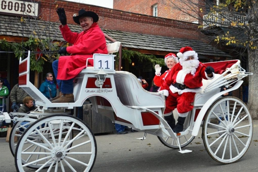 The Equestrian Parade at Columbia State Historic Park features an appearance by Santa himself (called Father Time here)