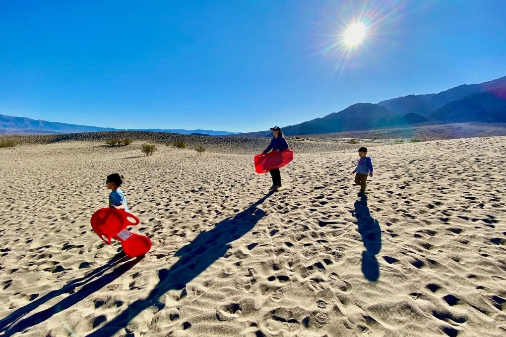 December Sledding: trading in the snow for sand dunes at Death Valley National Park