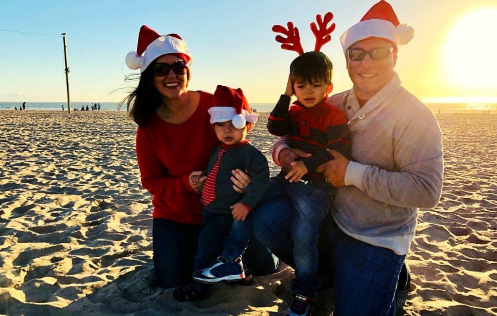 Holiday fun on the beach in LA