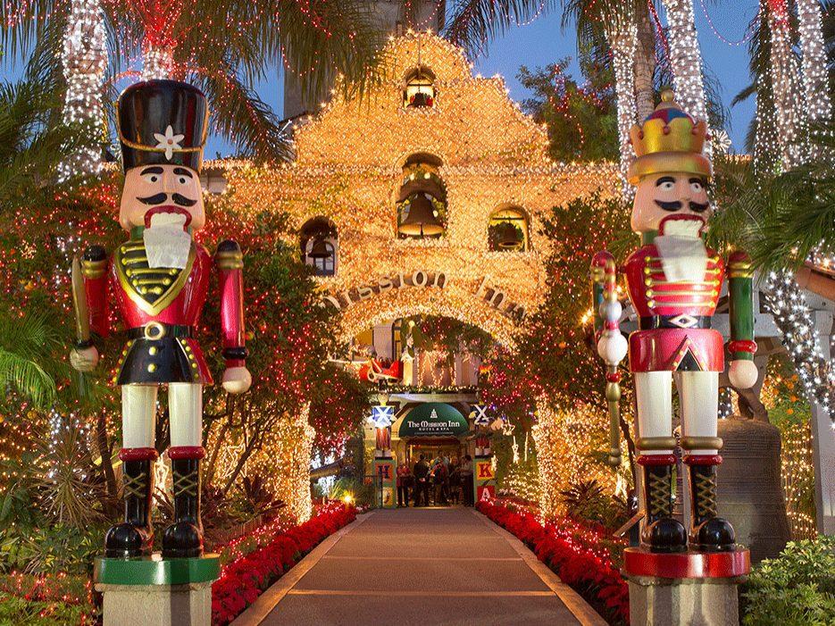 Riverside in December centers around the Mission Inn's Festival of Lights