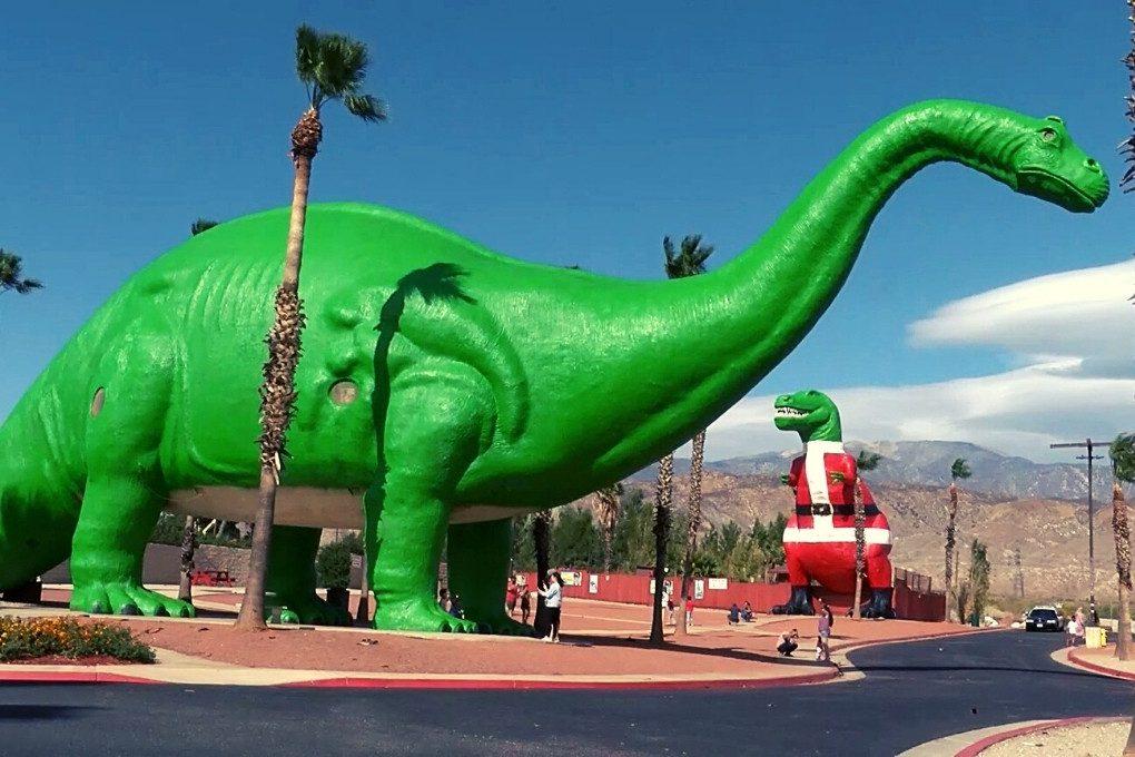 Santa Rex at the Cabazon Dinosaurs