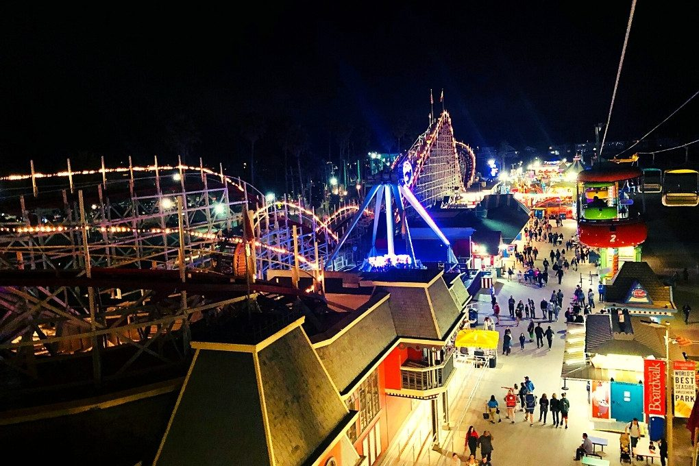The Boardwalk at Night from the Sky Glider