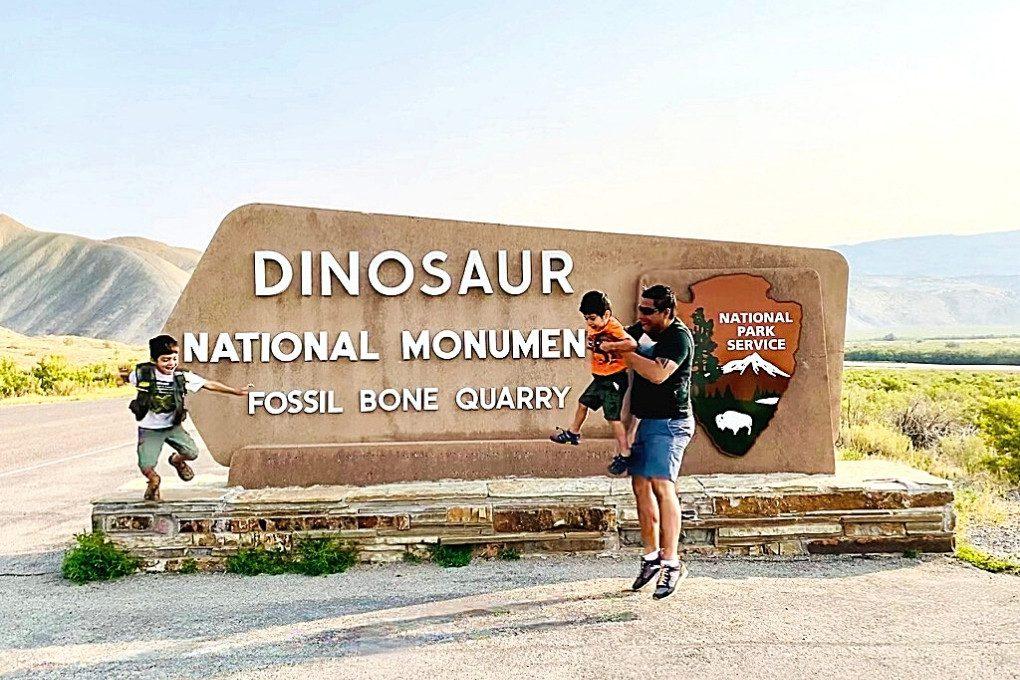 Dinosaur National Monument Park Sign
