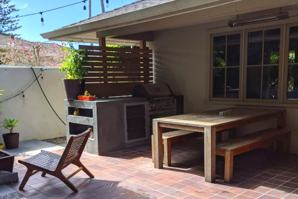 Image of the Grill and Patio off of VRBO for the Santa Cruz Beach Cottage